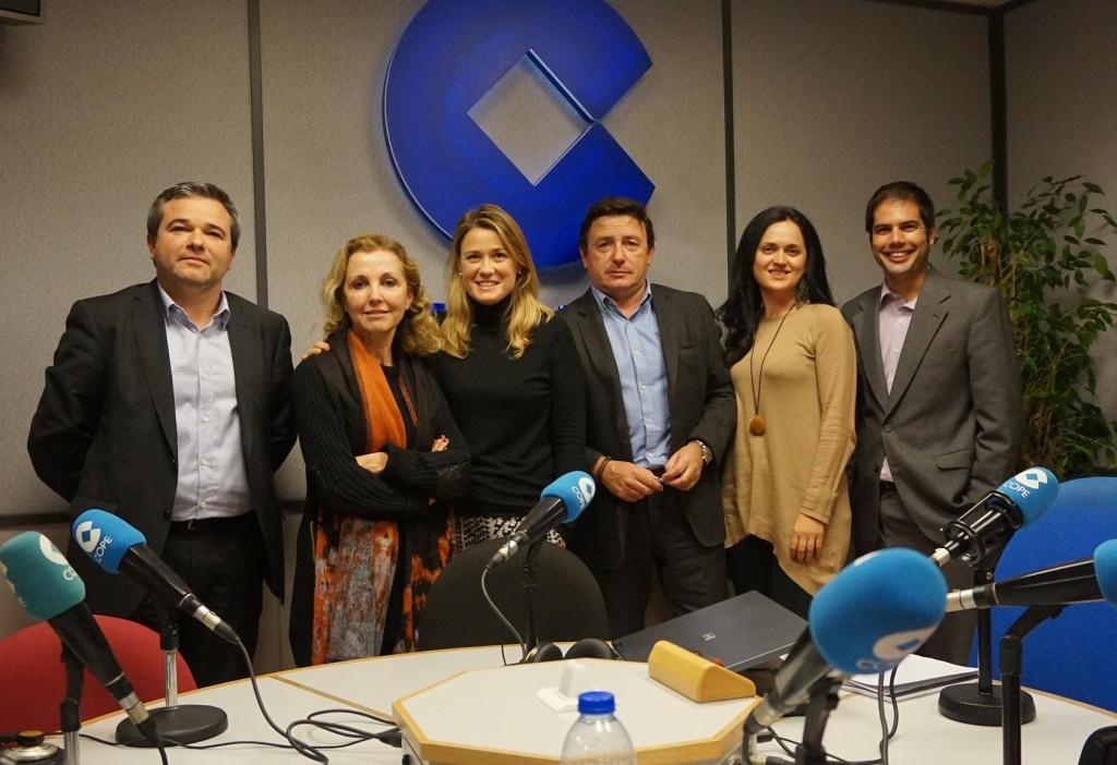 David Manzuñán, Maria Ángeles Fayos, Marta Iranzo (directora de Club de Marketing), José Antonio Martínez, Mª Ángeles Barvaró y Agustín Beamud (gerente del CMM).
